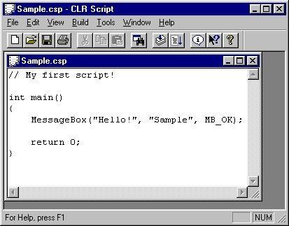 CLR Script Screenshot