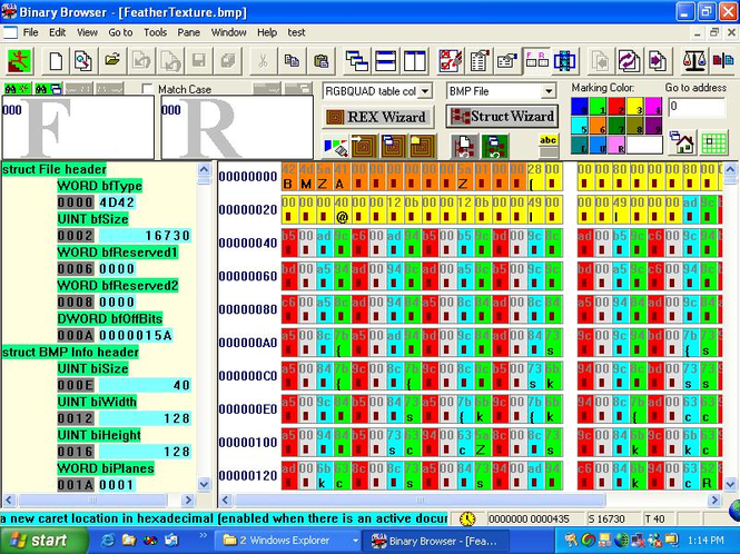Binary Browser Screenshot