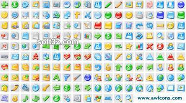 3D Aqua Icons Collection Screenshot 2