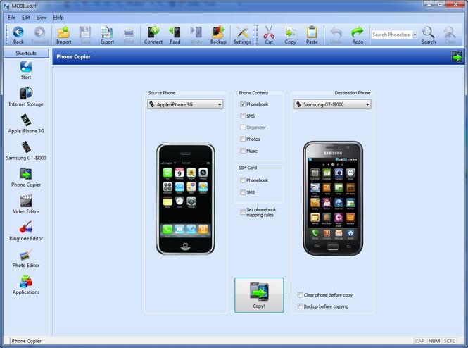 MOBILedit! Screenshot