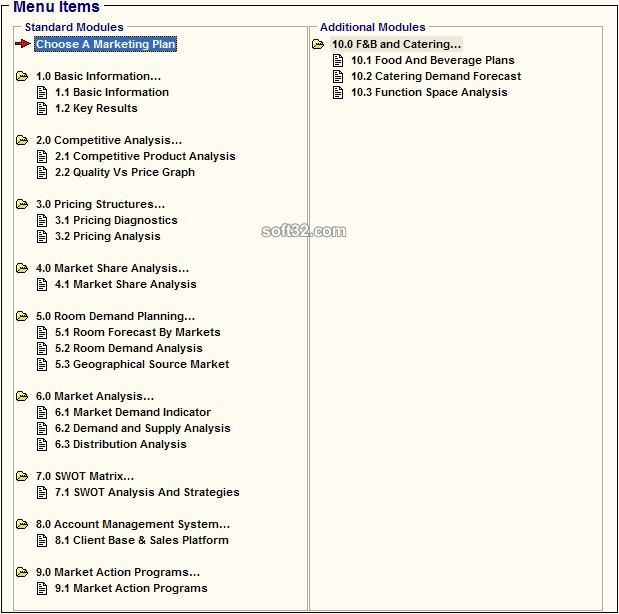 Hotel Marketing/ Revenue Plan Software System Screenshot 2