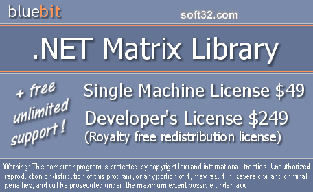 .NET Matrix Library Screenshot 2