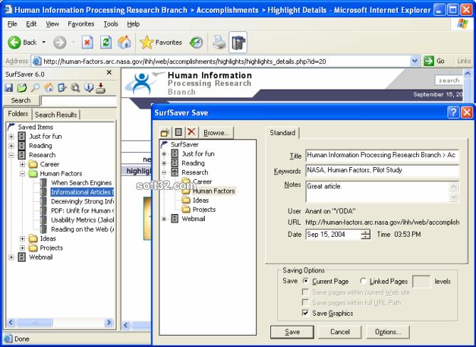 SurfSaver Screenshot 2