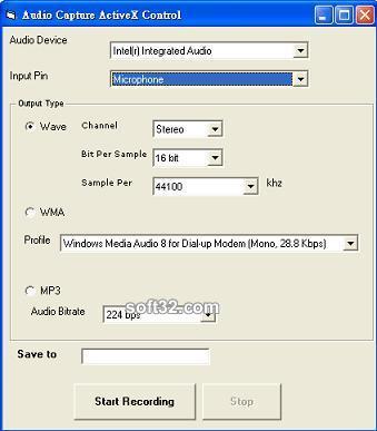 Audio Capture ActiveX Control Screenshot 2