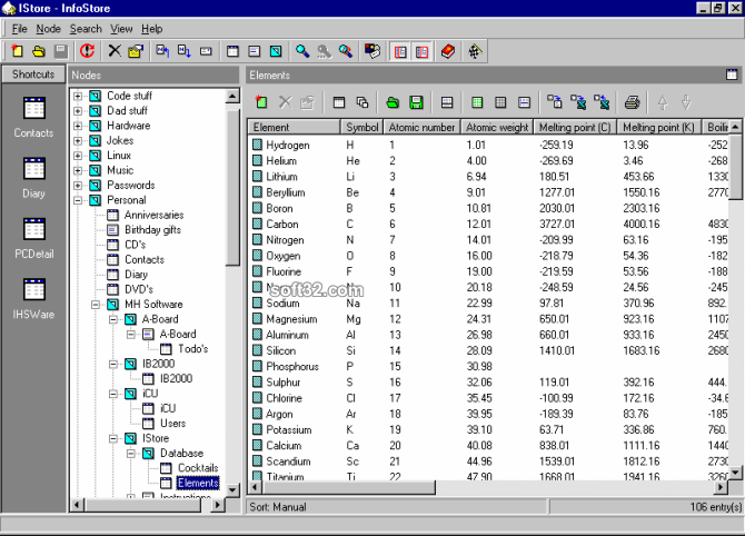 InfoStore Screenshot 3