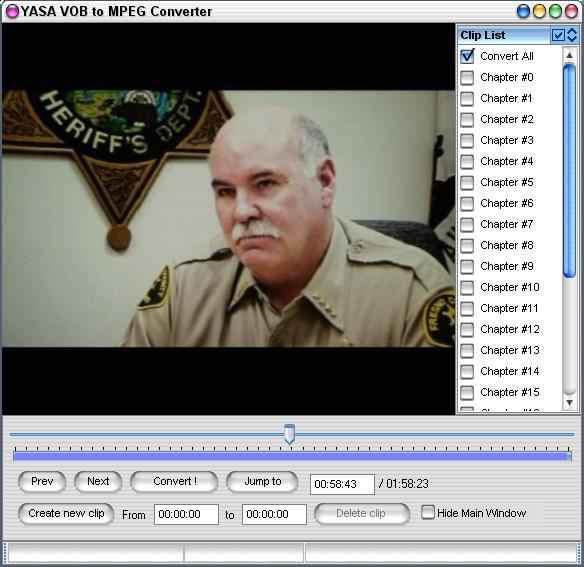 YASA VOB to MPEG Converter Screenshot