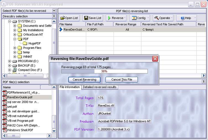 PDF Reverser Screenshot