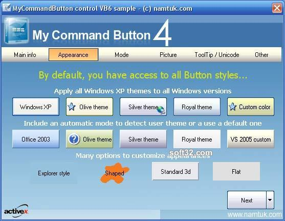 My Command Button ActiveX Screenshot 3