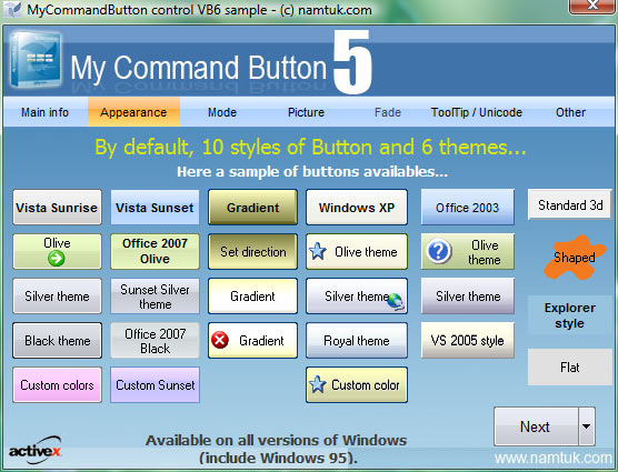 My Command Button ActiveX Screenshot
