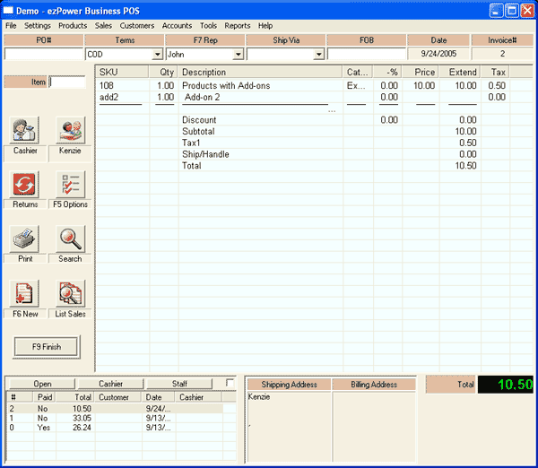 ezPower Business Point of Sale Screenshot 3