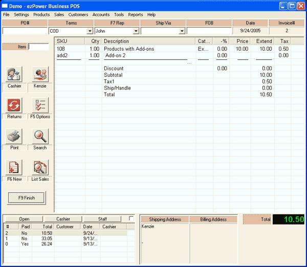 ezPower Business Point of Sale Screenshot 3