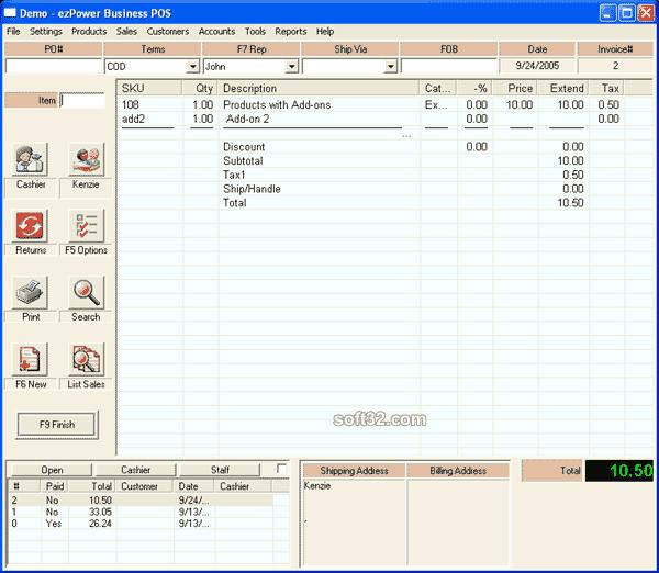 ezPower Business Point of Sale Screenshot 2