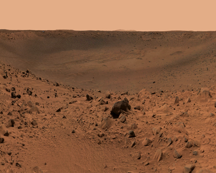 Walking on Mars Screensaver Screenshot
