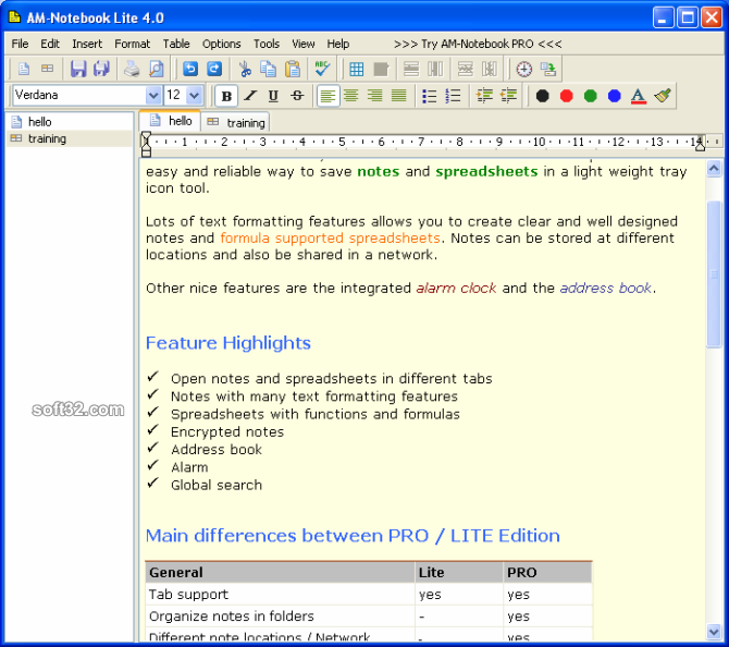AM-Notebook Lite Screenshot 1
