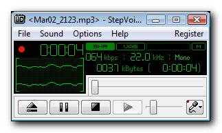 Stepvoice Recorder Screenshot 1