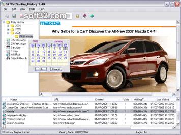 WebSurfing History Screenshot 3