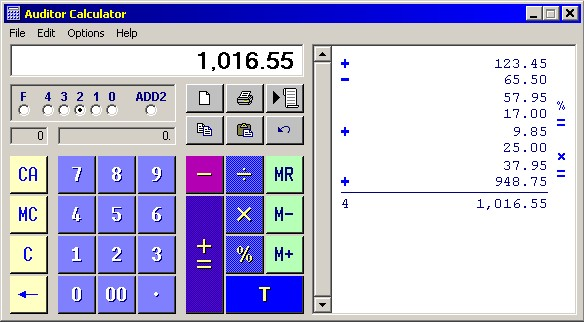 Auditor Calculator Screenshot 2