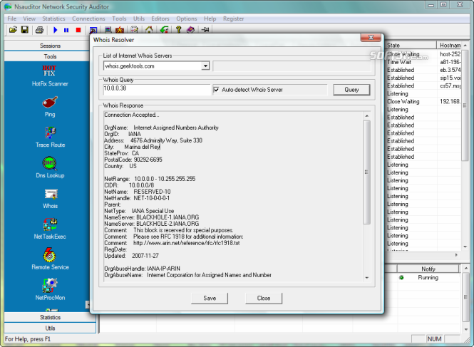 Nsauditor Network Security Auditor Screenshot 2