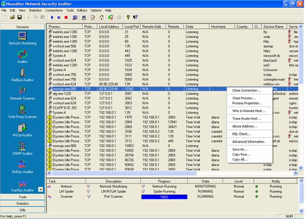 Nsauditor Network Security Auditor Screenshot 1