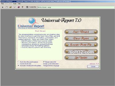 Universal Report Screenshot 2