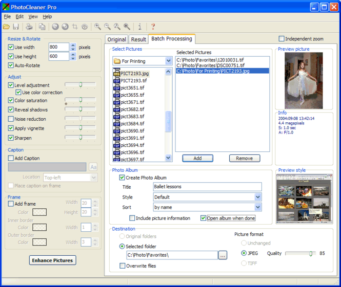 PhotoCleaner Professional Screenshot