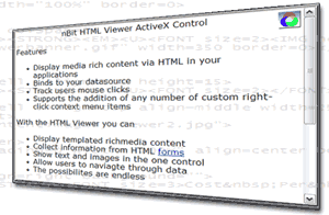 nBit HTML Viewer ActiveX Screenshot