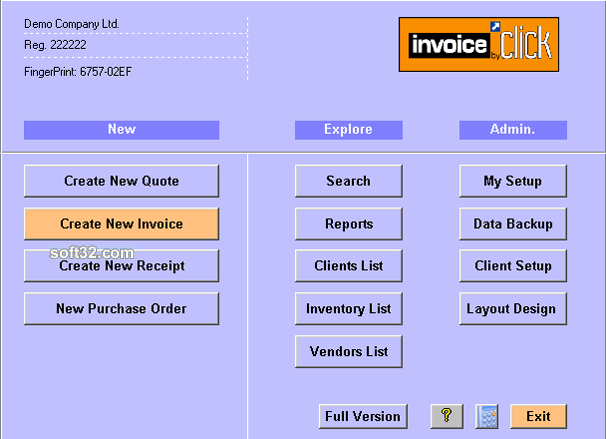 Invoice by Click- Invoicing software Screenshot 3