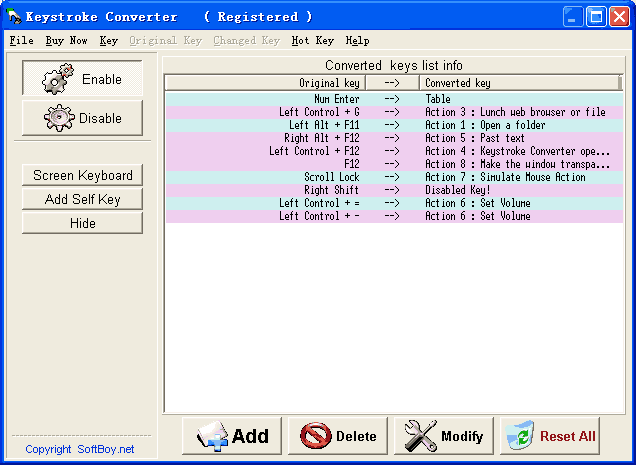Keystroke Converter Screenshot
