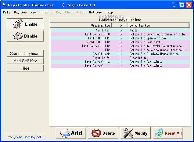 Keystroke Converter Screenshot 2