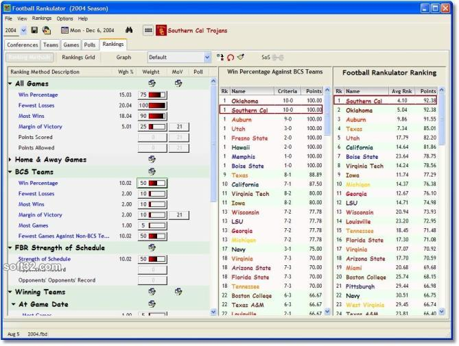 Football Rankulator Screenshot 2