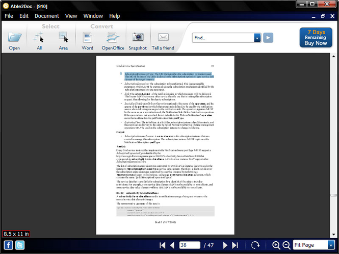 Able2Doc - PDF to Word Converter Screenshot