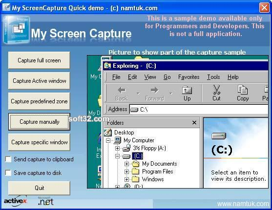 My Screen Capture ActiveX Screenshot 2