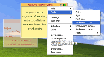 Desktop Sticky Notes Free Screenshot 1