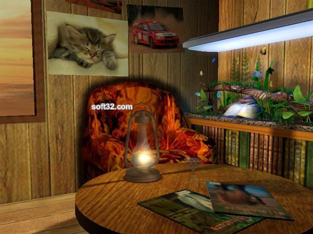 3D Bungalow Aquarium Screensaver Screenshot 2