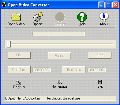 Open Video Converter Screenshot