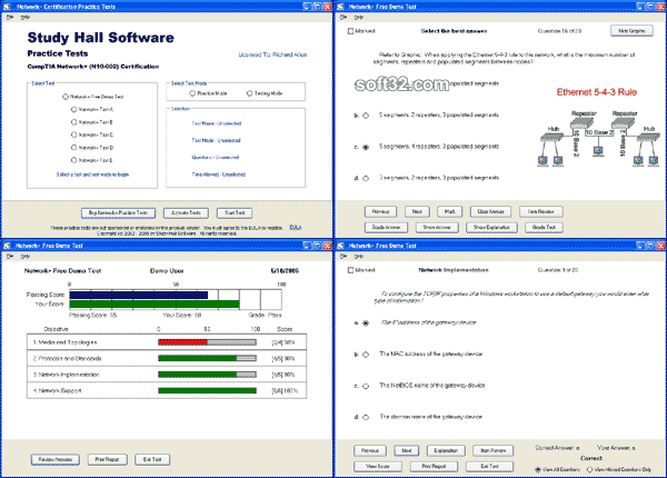 Network+ Practice Tests by Study Hall Screenshot 1
