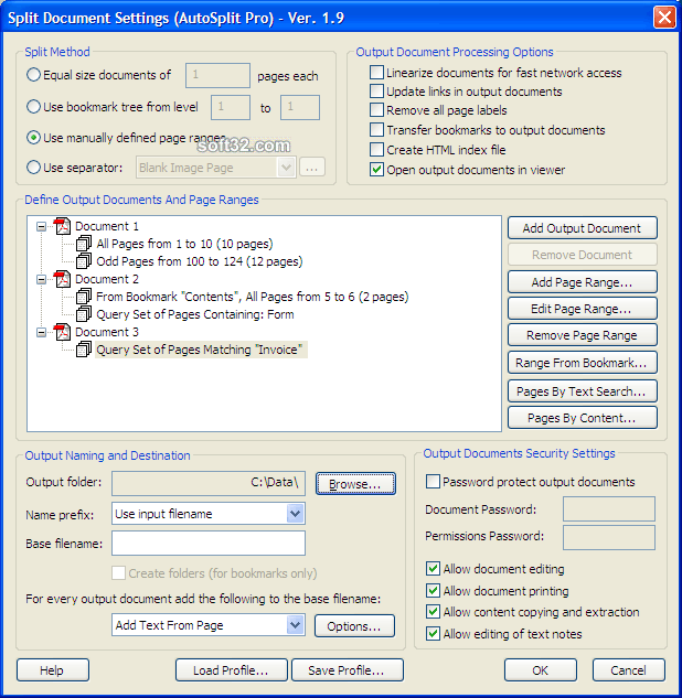 AutoSplit Plug-in for Adobe Acrobat Screenshot 2