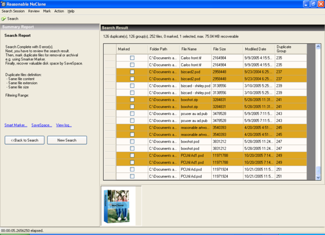 NoClone Home - Duplicate File Finder Screenshot 2