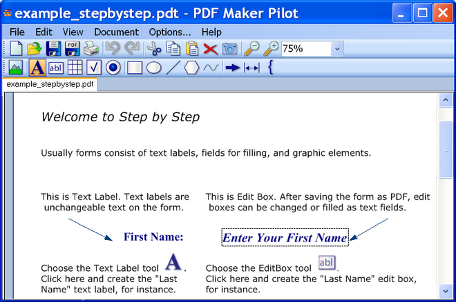 PDF Maker Pilot Screenshot 1