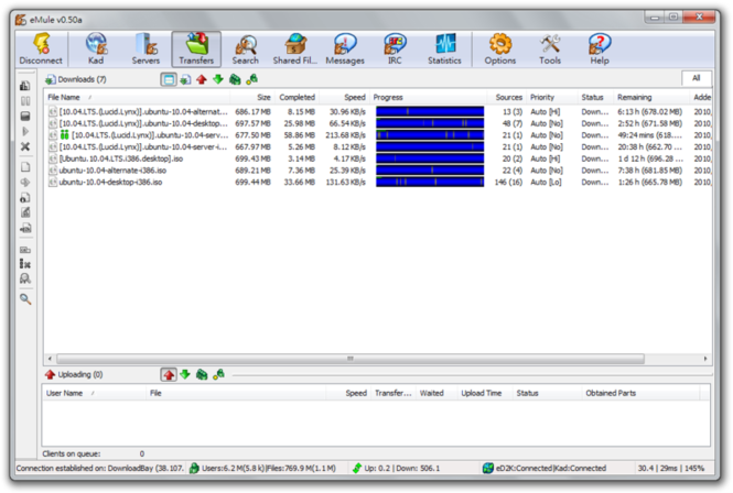 eMule Screenshot 1