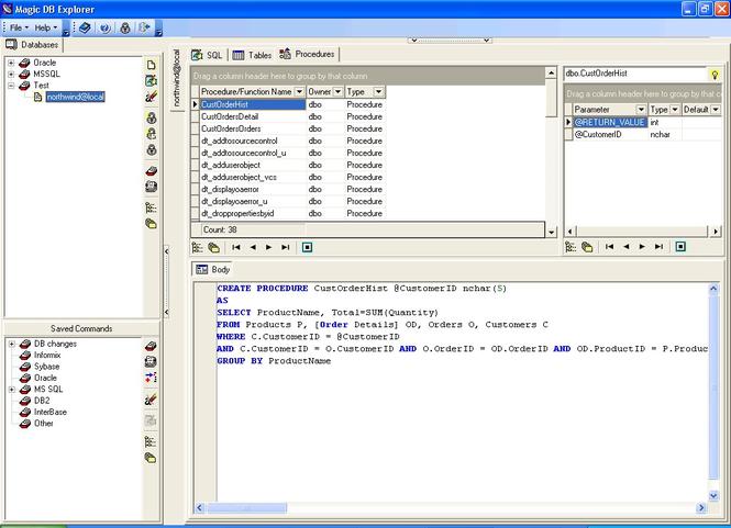 Magic DB Explorer Screenshot