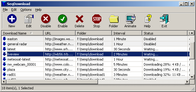 SeqDownload Screenshot 1