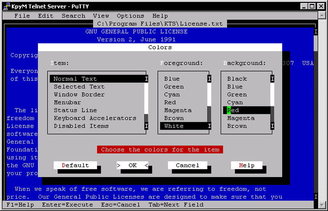 KpyM Telnet/SSH Server Screenshot 1