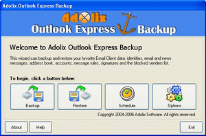 Adolix Outlook Express Backup Screenshot