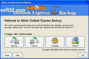 Adolix Outlook Express Backup Screenshot 2