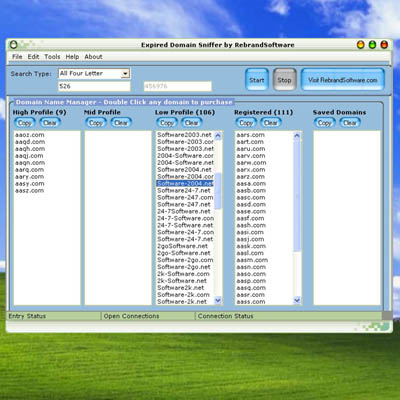 Expired Domain Sniffer Screenshot 1