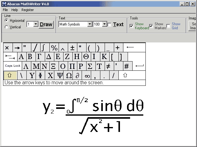 Abacus Math Writer Screenshot
