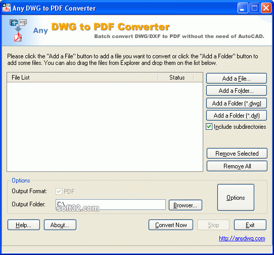 Any DWG to PDF Converter Screenshot 2