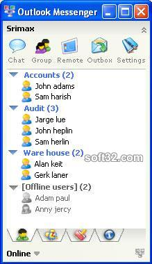 Outlook LAN Messenger Screenshot 2