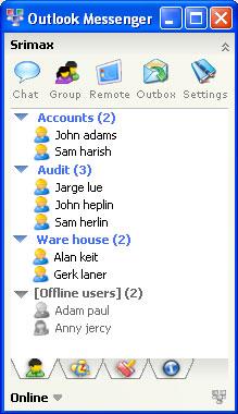 Outlook LAN Messenger Screenshot